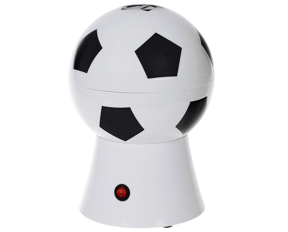 Аппарат для приготовления попкорна Bradex Мяч, цвет: черный, белый54 009312Аппарат для попкорна Bradex Мяч, изготовленный из поликарбоната, алюминия и термопластика в виде футбольного мяча, позволит вам в домашних условиях приготовить свежий, вкусный, хрустящий попкорн и наслаждаться любимым фильмом в уютной обстановке. Аппарат работает от электросети и оснащен металлическим котлом, который разогревается до нужной температуры. Готовый попкорн ссыпается через специальное отверстие. Интересный и стильный дизайн никого не оставит равнодушным.В комплект входит: инструкция для приготовления попкорна.Размер аппарата: 29 см х 20 см х 20 см.Мощность: 1200 Вт.Напряжение: 230 В.Объем: 270 мл.