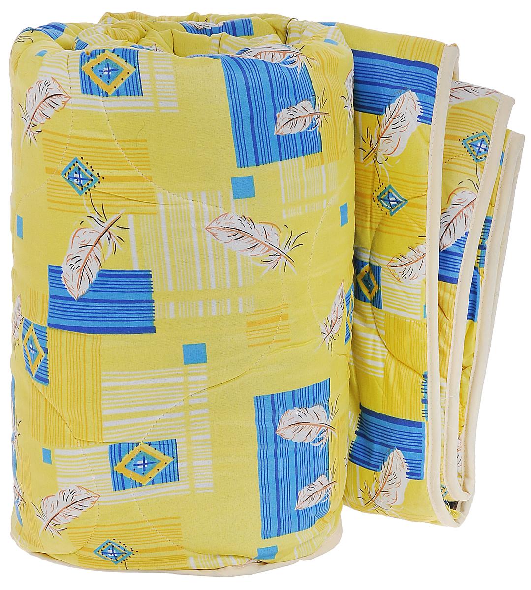Одеяло всесезонное OL-Tex Miotex, наполнитель: полиэфирное волокно Holfiteks, цвет: желтый, голубой, 200 см х 220 см531-105Всесезонное одеяло OL-Tex Miotex создаст комфорт и уют во время сна. Чехол выполнен из полиэстера и оформлен красочным рисунком. Внутри - современный наполнитель из полиэфирного высокосиликонизированного волокна Holfiteks, упругий и качественный. Прекрасно держит тепло. Одеяло с наполнителем Holfiteks легкое и комфортное. Даже после многократных стирок не теряет свою форму, наполнитель не сбивается, так как одеяло простегано и окантовано. Не вызывает аллергии. Holfiteks - это возможность легко ухаживать за своими постельными принадлежностями. Можно стирать в машинке, изделия быстро и полностью высыхают - это обеспечивает гигиену спального места при невысокой цене на продукцию.Плотность: 300 г/м2.