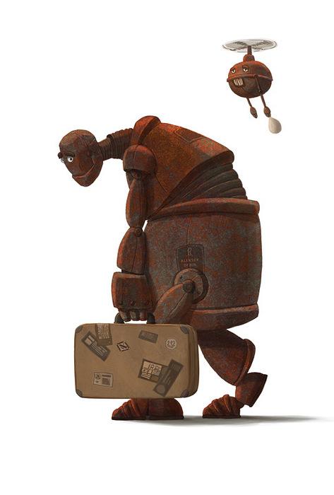 Открытка Робот. Автор: Алексей Дёрин1197941Оригинальная дизайнерская открытка Робот выполнена из плотного матового картона. На лицевой стороне расположена репродукция картины художника Алексея Дёрина. На задней стороне имеется поле для записей. Такая открытка станет великолепным дополнением к подарку или оригинальным почтовым посланием, которое, несомненно, удивит получателя своим дизайном и подарит приятные воспоминания.
