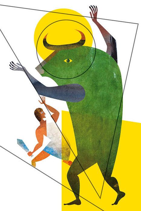 Открытка Тесей и Минотавр. Автор: Екатерина Горбачева778455Оригинальная дизайнерская открытка Тесей и Минотавр выполнена из плотного матового картона. На лицевой стороне расположена репродукция картины художника Екатерины Горбачёвой. На задней стороне имеется поле для записей. Такая открытка станет великолепным дополнением к подарку или оригинальным почтовым посланием, которое, несомненно, удивит получателя своим дизайном и подарит приятные воспоминания.