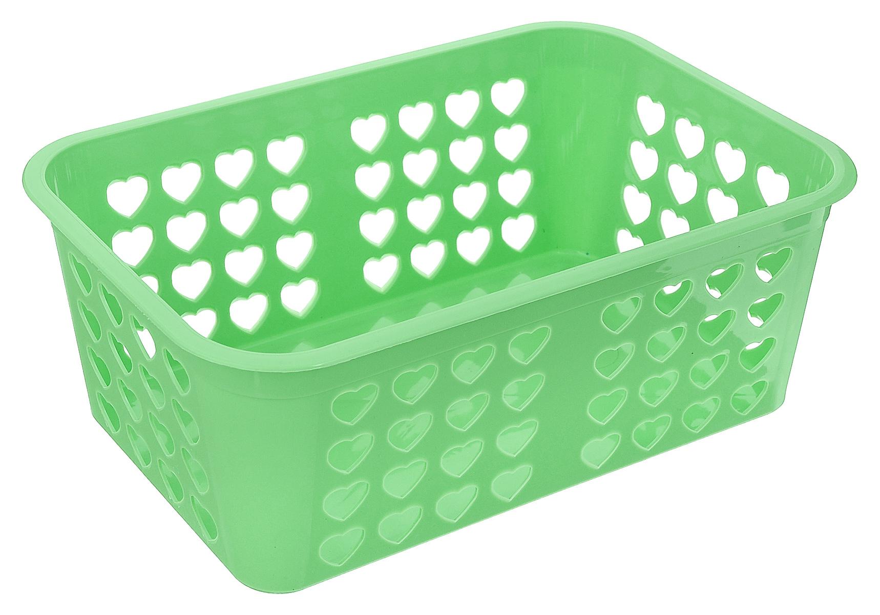 Корзина для хранения Альтернатива Вдохновение, цвет: салатовый, 26,5 х 16,5 х 10 смRG-D31SПрямоугольная корзина Альтернатива Вдохновение, изготовленная из пластика, предназначена для хранения мелочей в ванной, на кухне, даче или гараже. Корзина со сплошным дном, оснащена перфорированными стенками.Элегантный выдержанный дизайн позволяет органично вписаться в ваш интерьер и стать его элементом.