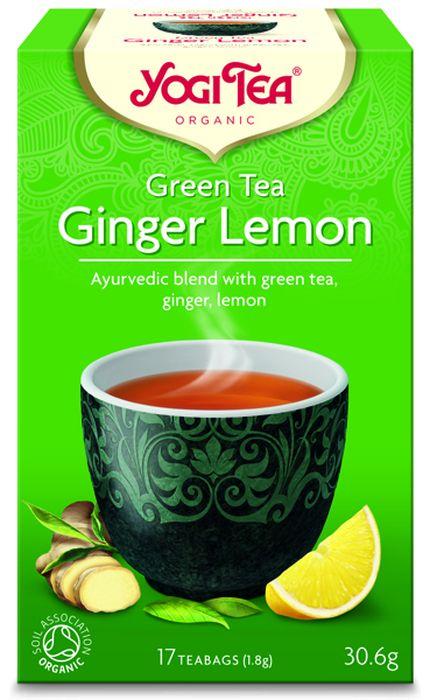 Yogi Tea Ginger Lemon зеленый чай в пакетиках, 17 шт485404Аюрведическая чайная смесь Yogi Tea Ginger Lemon с зелёным чаем, имбирём и лимоном.Успокаивающий зелёный чай добавляет медитативную нотку к пряности имбиря. Сладкий фруктовый вкус мирта и сорго лимонного в сочетании со свежестью перечной мяты возносят этот чай на небывалые высоты, придавая ему освежающий и благородный характер. Девиз этого чая: Активность и открытость, Образование – это то, чему учит тебя твоя интуиция.Мы, люди, являемся целостными существами - с телом, разумом и душой. Для хорошего самочувствия нам необходимо осознанно относиться к питанию, заниматься физическими упражнениями для поддержки нашего тела, а также заботиться о духовном наполнении нашего разума и души. Yogi Tea дарит вдохновение с каждой чашкой чая. С помощью мудрых афоризмов на каждом чайном ярлычке и вдохновляющих йога упражнений на каждой упаковке, мы приглашаем вас обрести баланс вашего тела, души и духа, в то время как вы наслаждаетесь чашкой изысканного чая Yogi. Аюрведа - древнейшая система осознанного и здорового образа жизни, которая зародилась в Индии более 5000 лет назад. Впервые распространившись на Запад в 60-е годы прошлого века, она часто именуется, как наука жизни. Само слово Аюрведа образовано от двух слов: Аюр - жизнь, и Веда - наука или знание. В 1969 году Йоги Бхаджан, Мастер Кундалини Йоги, учитель и вдохновитель целостного образа жизни, начал преподавать йогу на Западе. Он делился со своими учениками мудростью и знаниями о здоровом образе жизни и использовании в питании определённых трав и пряностей. Бхаджан часто угощал учеников ароматным и приятным на вкус чаем с пряностями, который они называли чай Йоги. Сегодня такое же вдохновение можно найти в каждой чашке чая Yogi Tea.Аюрведическая информация: VoPoK-.