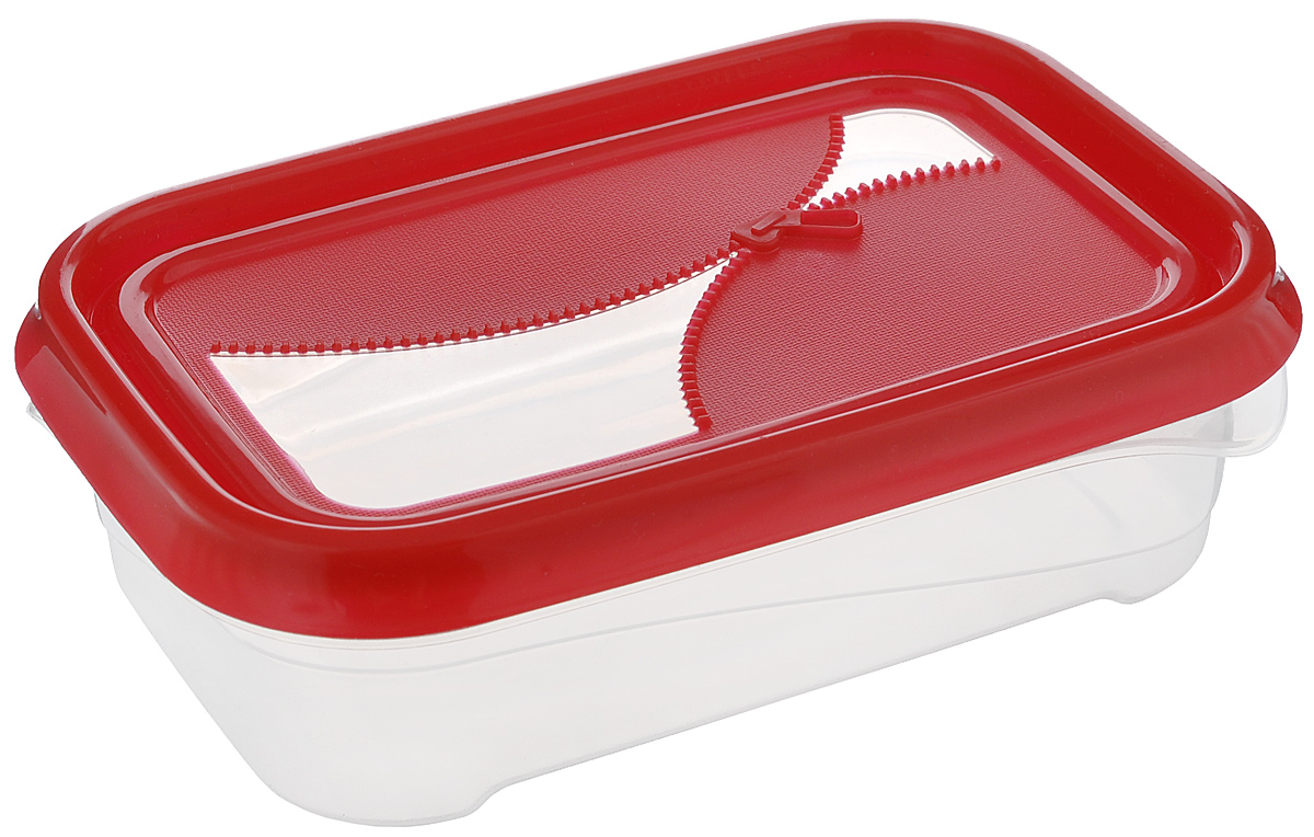 Контейнер для холодильника и СВЧ Phibo Ziplook, цвет: красный, прозрачный, 0,5 лFA-5125 WhiteКонтейнер для холодильника и СВЧ Phibo Ziplook изготовлен из высококачественного прочного пластика, устойчивого к высоким температурам. Яркая цветная крышка, украшенная рельефом в виде молнии, плотно закрывается, дольше сохраняя продукты свежими и вкусными. Контейнер идеально подходит для хранения пищи, его удобно брать с собой на работу, учебу, пикник или просто использовать для хранения пищи в холодильнике.Можно использовать в микроволновой печи при температуре до +100°С без крышки и для заморозки в морозильной камере при минимальной температуре -24°С. Можно мыть в посудомоечной машине при температуре до +75°С.