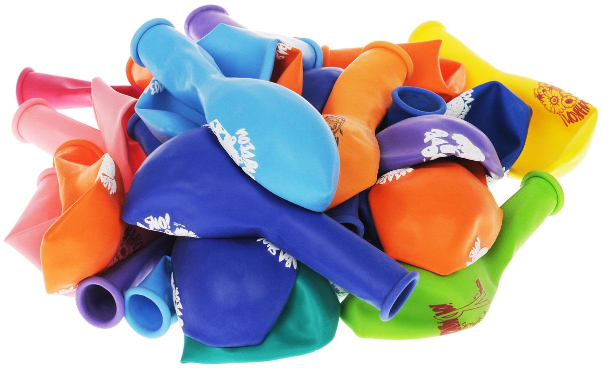 """Набор воздушных шаров Веселая затея """"Поздравления"""" включает в себя 30 разноцветных шариков с поздравлениями. Изготовлены из прочного натурального латекса. Воздушные шарики помогут украсить место вашего праздника, праздничный стол или стать достойной наградой за победу в конкурсе. Эти яркие праздничные аксессуары поднимут настроение вам и вашим гостям!"""