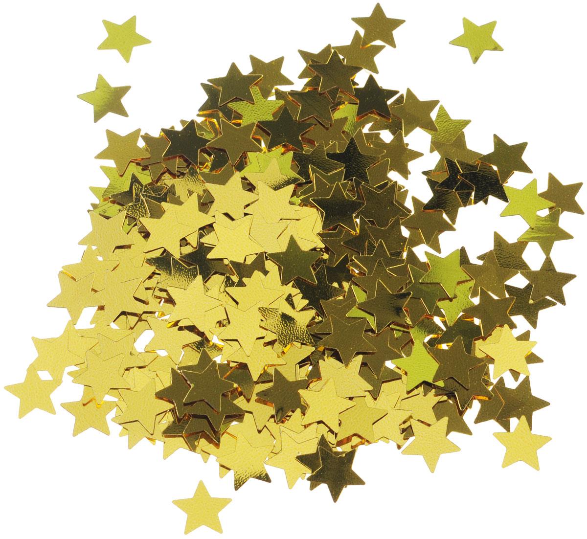 Веселая затея Конфетти Золотые звезды, 14 гC0038550Конфетти Веселая затея Золотые звезды - неотъемлемый атрибут праздников, триумфальных шествий, а также свадебных торжеств. Выполнено из прочного материала в форме золотых звездочек.Конфетти осыпают друг друга участники празднеств или его сбрасывают сверху. Конфетти, рассыпанное на столе, является необычной и привлекательной формой украшения праздничного застолья. Еще один оригинальный способ порадовать друзей и близких - насыпьте конфетти в конверт с открыткой - это будет неожиданный сюрприз!Это чудесное украшение принесет в ваш дом или офис незабываемую атмосферу праздничного веселья!