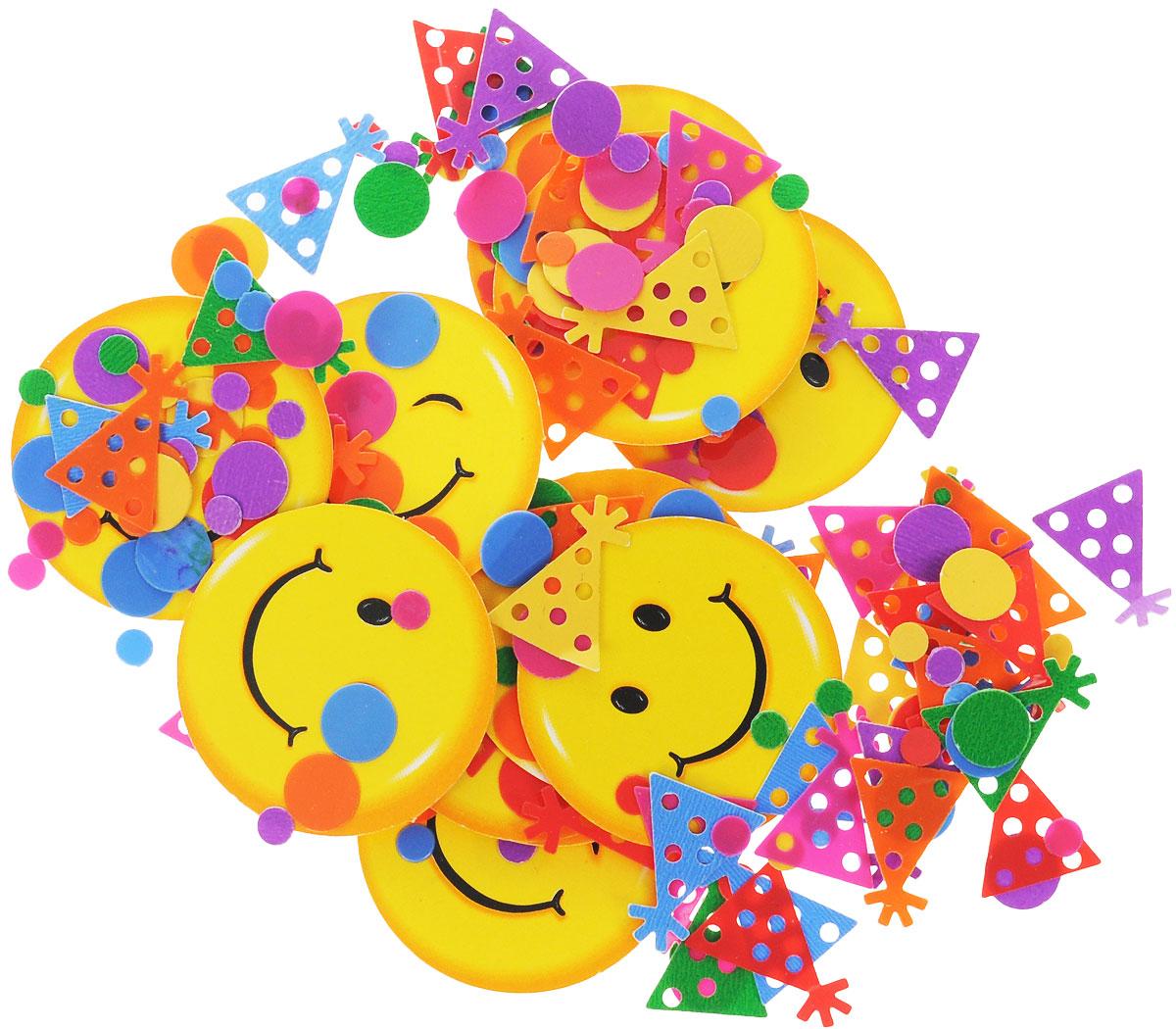 Веселая затея Конфетти Улыбки, 14 г64512_4Конфетти Веселая затея Улыбки - неотъемлемый атрибут праздников, триумфальных шествий, а также свадебных торжеств. Выполнено из прочного материала в форме веселых смайликов и различных разноцветных мелких фигурок.Конфетти осыпают друг друга участники празднеств или его сбрасывают сверху. Конфетти, рассыпанное на столе, является необычной и привлекательной формой украшения праздничного застолья. Еще один оригинальный способ порадовать друзей и близких - насыпьте конфетти в конверт с открыткой - это будет неожиданный сюрприз!Это чудесное украшение принесет в ваш дом или офис незабываемую атмосферу праздничного веселья!