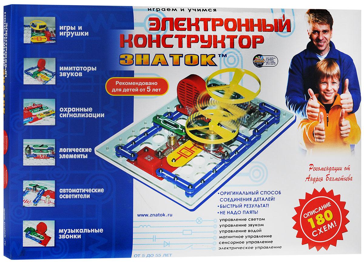 """Электронный конструктор """"Знаток"""" это игра, тесно соединяющая знания о физическом мире, удовольствие и практическую полезность. Собирая те или иные электрические цепи, можно отдыхая, познакомиться с удивительным миром электроники. Эта покупка на долгие годы, т.к. по мере взросления ребенок будет открывать для себя все новые и новые возможности электроники (реально до 11 класса средней школы). Это не только игрушка, но и мощный обучающий инструмент, способный помочь в освоении школьной программы. Многие схемы носят не только познавательный характер, но и пригодны для практического использования. Оригинальный очень простой способ соединения деталей. Не надо паять и, следовательно, вдыхать вредный дым с примесями припоя. Даже если ребенок сейчас не сможет собирать предложенные схемы, то Вы можете это легко сделать сами и порадовать ребенка массой забавных электронных игрушек. Заодно повысить свой авторитет. В конструкторе..."""