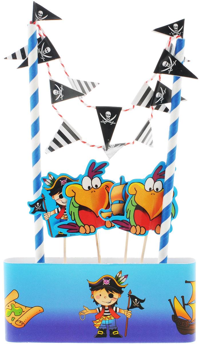 """Веселая затея Декор-комплект для украшения торта """"Маленький пират"""", General Consolidated Impex Company"""
