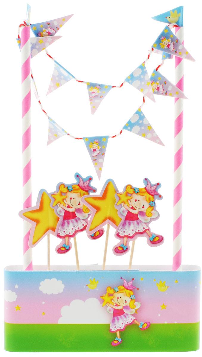 """Веселая затея Декор-комплект для украшения торта """"Звездная Фея"""", General Consolidated Impex Company"""