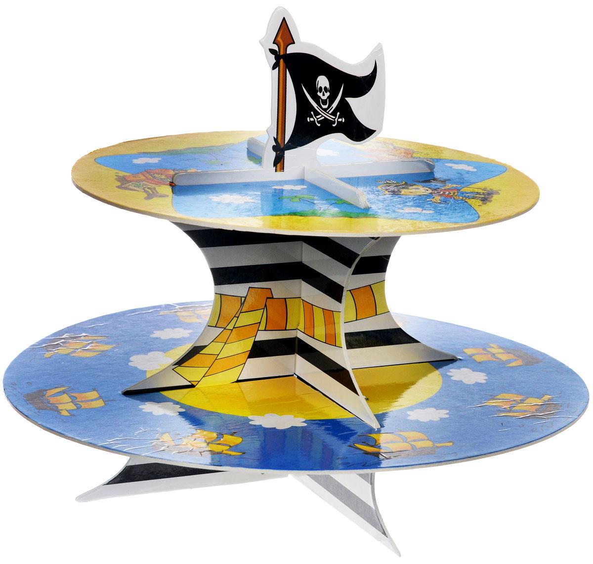 """Веселая затея Стойка для кексов """"Маленький пират"""", 2 яруса, General Consolidated Impex Company"""