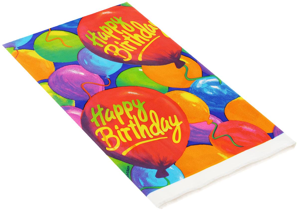 """Веселая затея Скатерть """"Happy Birthday. Шары"""", 140 см х 260 см, Amscan Inc."""