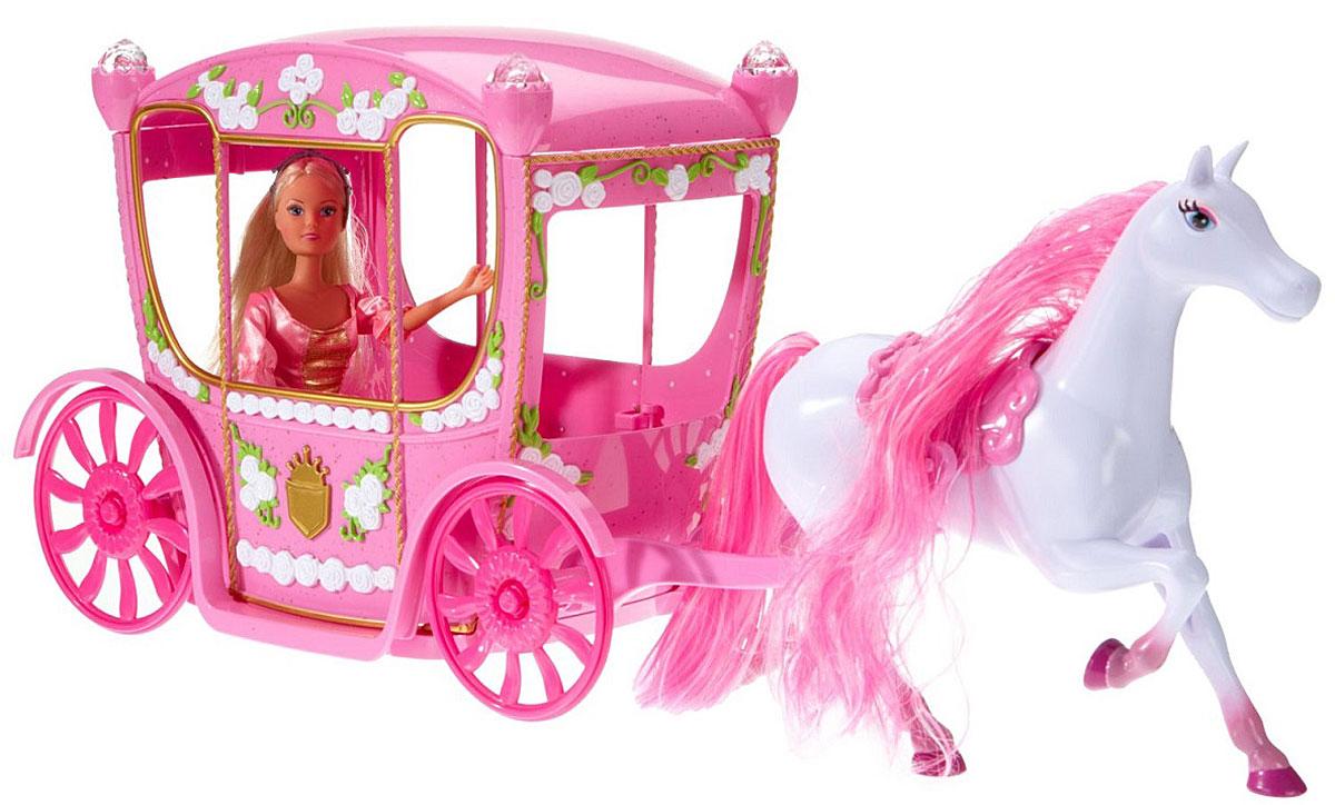 Simba Игровой набор с куклой Штеффи в сказочной карете simba игровой набор с куклой штеффи water styles fashion