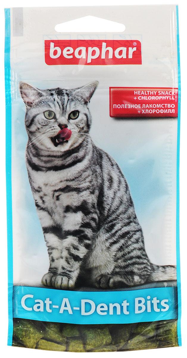 Лакомство для кошек Beaphar Cat-A-Dent-Bits, подушечки для чистки зубов с хлорофиллом, 35 г16395Подушечки для чистки зубов у кошек Beaphar Cat-A-Dent-Bits специально разработаны для сохранения зубов кошек чистыми. Большинство кошек имеют проблемы с зубами, в основном, вызванные образованием налета и зубного камня. Эти подушечки заполнены хлорофиллом, натуральным экстрактом растений, хорошо известным своей способностью поглощать неприятные запахи. Подушечки также обогащены фторидом для укрепления зубов от действия зубного налета. Состав: зерновые, продукты растительного происхождения, минеральные вещества, мясо птицы и продукты животного происхождения. Анализ: протеин 29%, клетчатка 2,6%, жиры 8,7%, зола 5,4%, влажность 9%, кальций 0,28%, фосфор 0,73%, натрий 0,1%, калий 0,4%, магний 0,12%. Добавки на 1 кг: витамин А 4480 МЕ, витамин В1 4 мг, антиоксиданты, красители, хлорофилл 1200 мг. Товар сертифицирован.