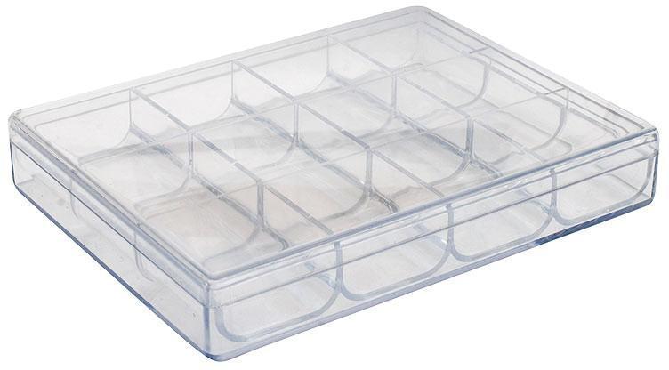 Органайзер Белоснежка, 12 отделений587074Органайзер используется при хранении и транспортировке мелких предметов. Корпус выполнен из высококачественного пластика, который отличается высокой прочностью. Отделения съемные, благодаря чему изделие удобно чистить.Размер органайзера: 16,2 х 12,2 х 2,7 см.Размер отделений: 4 х 3,7 см.