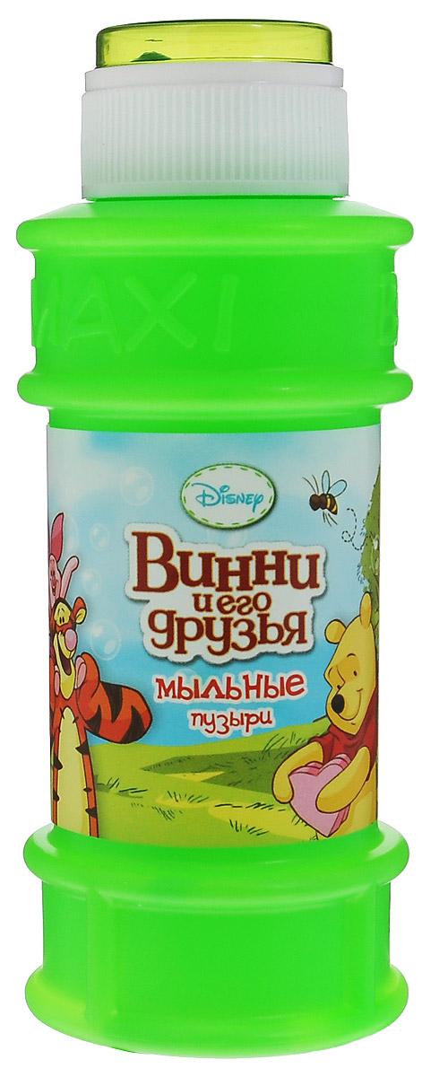"""Мыльные пузыри Веселая затея """"Disney: Винни и его друзья"""" станут отличным развлечением на любой праздник! Парящие в воздухе, большие и маленькие, блестящие мыльные пузыри всегда привлекают к себе особое внимание не только детишек, но и взрослых. Смеющиеся ребята с удовольствием забавляются и поднимают настроение всем окружающим, создавая неповторимую веселую атмосферу солнечного радостного дня. В крышке встроена игрушка-лабиринт с шариком. Порадуйте вашего ребенка таким замечательным подарком!"""