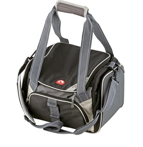 Сумка-термос Igloo Duffel Large 2400157771Изотермическая сумка Igloo Duffel Large 24 с регулируемым по длине плечевым ремнем на мягкой плечевой подложке, фронтальным карманом и карманом-сеткой на внутренней части крышки. Превосходно подойдет для индивидуального, ежедневного использования.- Двойные ручки с удобным захватом.- Просто очищается.- Имеет по бокам два отдельных кармана для дополнительных принадлежностей.- Просторный передний карман на молнии.Параметры:Объем: 23 л. Длина: 35 см. Ширина : 24 см. Высота: 24 см.