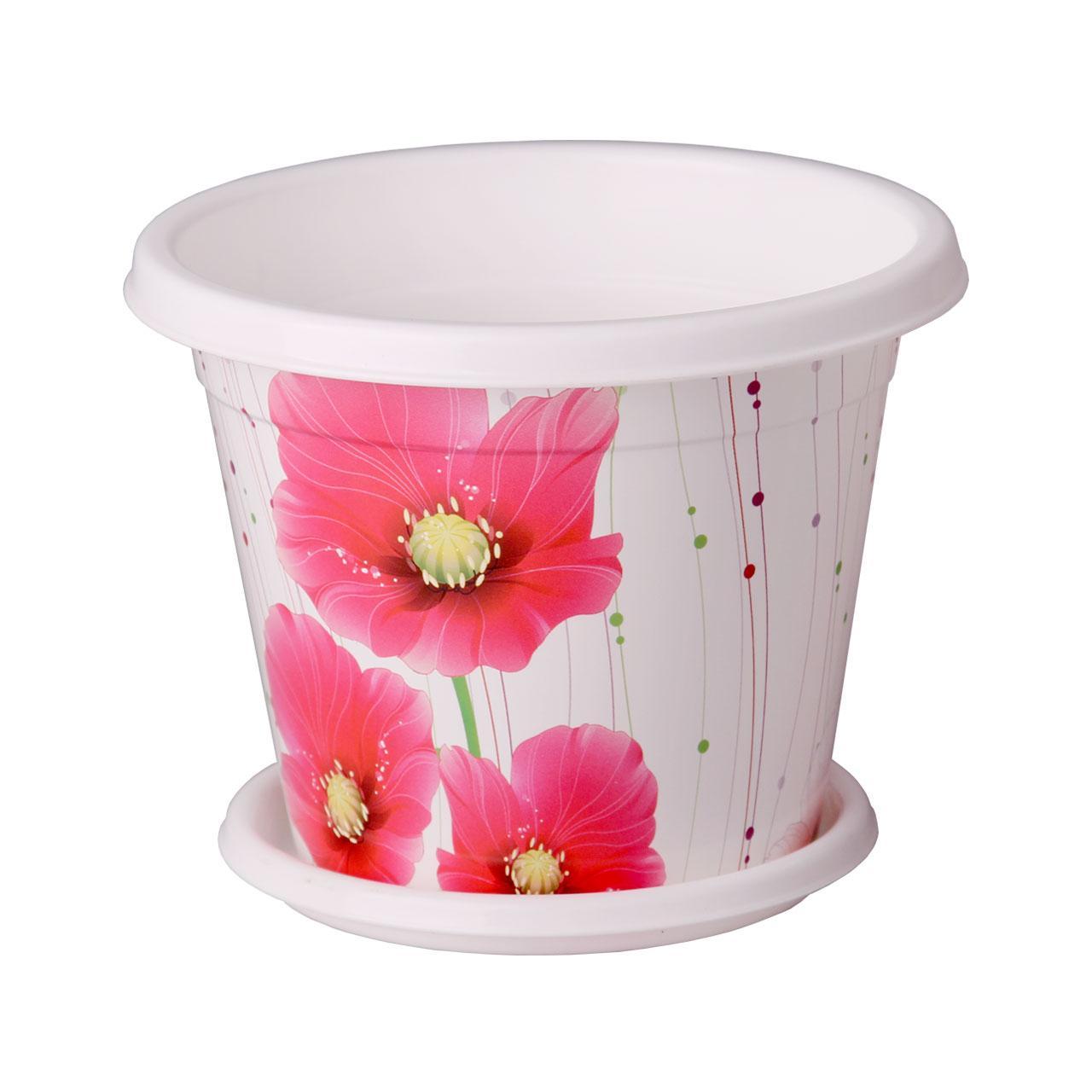Горшок-кашпо Альтернатива Маки, с поддоном, 1 лМ2652Горшок-кашпо Альтернатива Маки изготовлен из высококачественного пластика и подходит для выращивания растений и цветов в домашних условиях. Такие изделия часто становятся последним штрихом, который совершенно изменяет интерьер помещения или ландшафтный дизайн сада. Благодаря такому горшку-кашпо вы сможете украсить вашу комнату, офис, сад и другие места. Изделие оснащено специальным поддоном и декорировано ярким изображением маков.Объем горшка: 1 л. Диаметр горшка (по верхнему краю): 15 см. Высота горшка: 12 см. Диаметр поддона: 12 см.