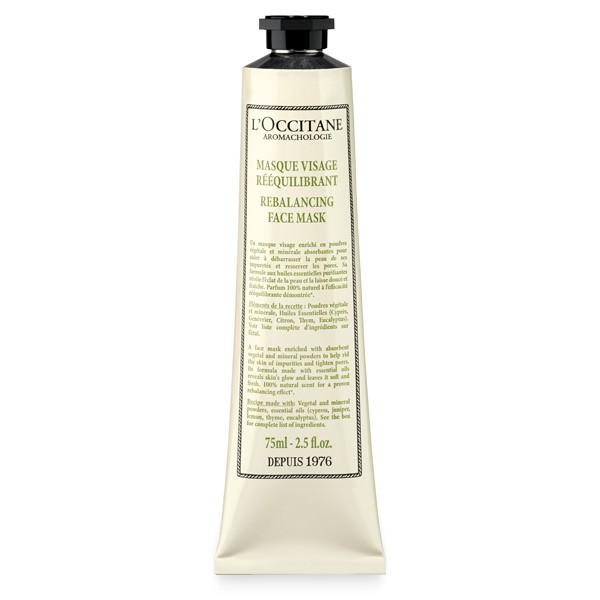 LOccitane Маска для лица Аромакология Очищение и восстановление, 75 млNTT80Маска, обогащенная растительными и минеральными порошками, помогает избавить кожу от загрязнений, сужает поры и насыщает ее кислородом. Откройте для себя восстанавливающий ритуал по уходу за лицом, который не только подарит потрясающий расслабляющий эффект, но и поможет снять стресс и мышечное напряжение.