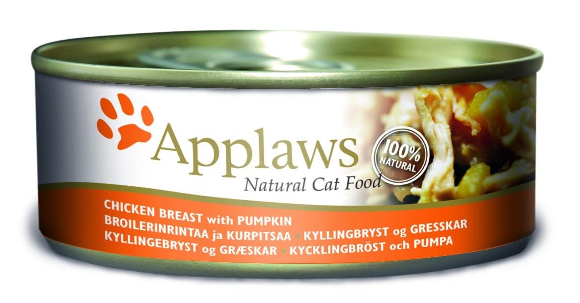 Консервы Applaws, для кошек, с куриной грудкой и тыквой, 156 г24326Каждая баночка Applaws содержит порцию свежего мяса, приготовленного в собственном бульоне. Для приготовления любого типа консервов используется мясо животных свободного выгула, выращенных на фермах Англии. В состав каждого рецепта входит только три/четыре основных ингредиента и ничего более. Не содержит ГМО, синтетических консервантов или красителей. Не содержит вкусовых добавок.Состав: филе куриной грудки 50%, куриный бульон 24%, тыква 24%, рис 1%.Анализ: белок 13 %, клетчатка 1 %, жиры 0,2 %, зола 2 %, влага 82%.Товар сертифицирован.