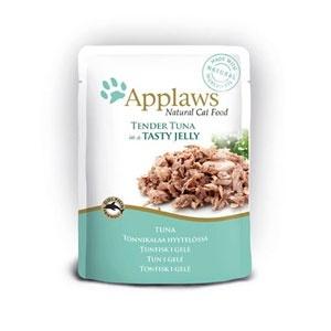 Консервы для кошек Applaws, кусочки тунца в желе, 70 г101246Нежные кусочки в аппетитном желе для кошек изготовленные из свежих продуктов. Желе приготовлено из бульона при помощи натуральных загустителей. Известно, что желе помогает пищеварению кошек - легко переваривается, дает дополнительную влагу, также помогает при выводе шерсти. Состав: филе тунца 55%, растительный желлирующий компонент (пектин) 1%.Гарантированный анализ: белок 12,5%, клетчатка 1%, жиры 1%, зола 1%, влага 84%. Товар сертифицирован.