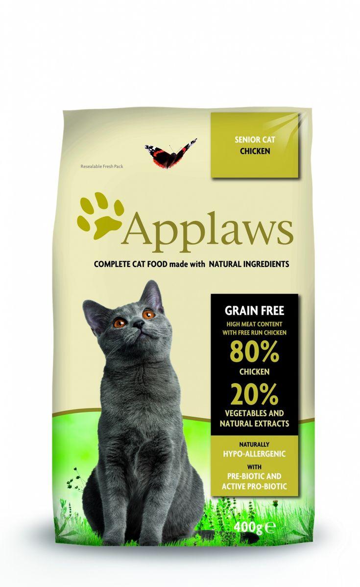 Корм сухой Applaws для пожилых кошек, беззерновой, с курицей и овощами, 400 г0120710Корм сухой Applaws для пожилых кошек изготовлен по особым рецептам, разработанными диетологами института Великобритании. Правильная диета очень важна для питомцев, ведь она меняется в зависимости от жизненного цикла. Также полнорационные корма должны включать в себя необходимое количество витаминов и минералов. В рецептах сухих кормов Applaws учтен не только перечень наиболее необходимых минералов и витаминов, но и их строгий баланс. Так как сухой корм изготавливается только из натуральных качественных ингредиентов, крокеты привлекут внимание любого, даже очень привередливого питомца. Состав: дегидрированное мясо цыпленка (мин. 75%), мелкопорубленное филе цыпленка (мин. 12%), молодой картофель (мин. 6%), свекла, пивные дрожжи, подлива с мяса птицы приготовленной в собственном соку (мин. 1%), Клетчатка, лососевый жир (источник Омега 3), кокосовое масло, витамины и минералы, яичный порошок, хлорид натрия, карбонат кальция, сушеные водоросли, клюква, DL - метионин, хлористый калий, экстракт Юкка Шидегера, экстракт из цитрусовых, розмарин. Пищевые добавки: витамин А 27,850 МЕ/кг, витамин D3 1,200 МЕ/кг, витамин Е 615 МЕ/кг. Микроэлементы: селен (селенит натрия) 0,13 мг/кг, йод (безводный иодат кальция) 1,5 мг/кг, железо (сульфат железа моногидрат) 80 мг, медь (сульфат меди пентагидрад) 48мг/кг, марганец (сульфат марганца моногидрат) 38 мг/кг, цинк (сульфат цинка моногидрат) 68 мг/кг. Прочие добавки: натуральный консервант - токоферол. Гарантированный анализ: белки 37%, жиры 17%, клетчатка 3,4%, зола 10%, омега 6: 3,1%, омега 3: 0,7%, кальций 2,2%, фосфор 1,5%, таурин 2000 мг/кг < 12,5 углеводов.
