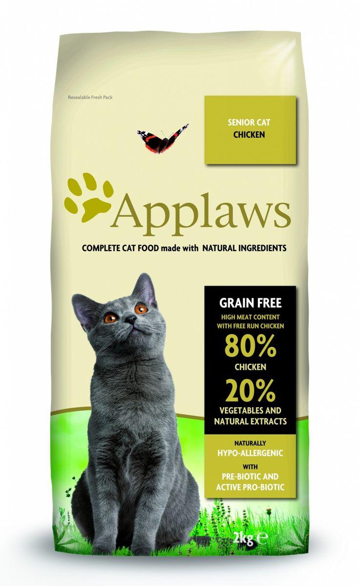 Корм сухой Applaws для пожилых кошек, беззерновой, с курицей и овощами, 2 кг0120710Корм сухой Applaws для пожилых кошек изготовлен по особым рецептам, разработанными диетологами института Великобритании. Правильная диета очень важна для питомцев, ведь она меняется в зависимости от жизненного цикла. Также полнорационные корма должны включать в себя необходимое количество витаминов и минералов. В рецептах сухих кормов Applaws учтен не только перечень наиболее необходимых минералов и витаминов, но и их строгий баланс. Так как сухой корм изготавливается только из натуральных качественных ингредиентов, крокеты привлекут внимание любого, даже очень привередливого питомца. Состав: дегидрированное мясо цыпленка (мин. 75%), мелкопорубленное филе цыпленка (мин. 12%), молодой картофель (мин. 6%), свекла, пивные дрожжи, подлива с мяса птицы приготовленной в собственном соку (мин. 1%), Клетчатка, лососевый жир (источник Омега 3), кокосовое масло, витамины и минералы, яичный порошок, хлорид натрия, карбонат кальция, сушеные водоросли, клюква, DL - метионин, хлористый калий, экстракт Юкка Шидегера, экстракт из цитрусовых, розмарин. Пищевые добавки: витамин А 27,850 МЕ/кг, витамин D3 1,200 МЕ/кг, витамин Е 615 МЕ/кг. Микроэлементы: селен (селенит натрия) 0,13 мг/кг, йод (безводный иодат кальция) 1,5 мг/кг, железо (сульфат железа моногидрат) 80 мг, медь (сульфат меди пентагидрад) 48мг/кг, марганец (сульфат марганца моногидрат) 38 мг/кг, цинк (сульфат цинка моногидрат) 68 мг/кг. Прочие добавки: натуральный консервант - токоферол. Гарантированный анализ: белки 37%, жиры 17%, клетчатка 3,4%, зола 10%, омега 6: 3,1%, омега 3: 0,7%, кальций 2,2%, фосфор 1,5%, таурин 2000 мг/кг < 12,5 углеводов.