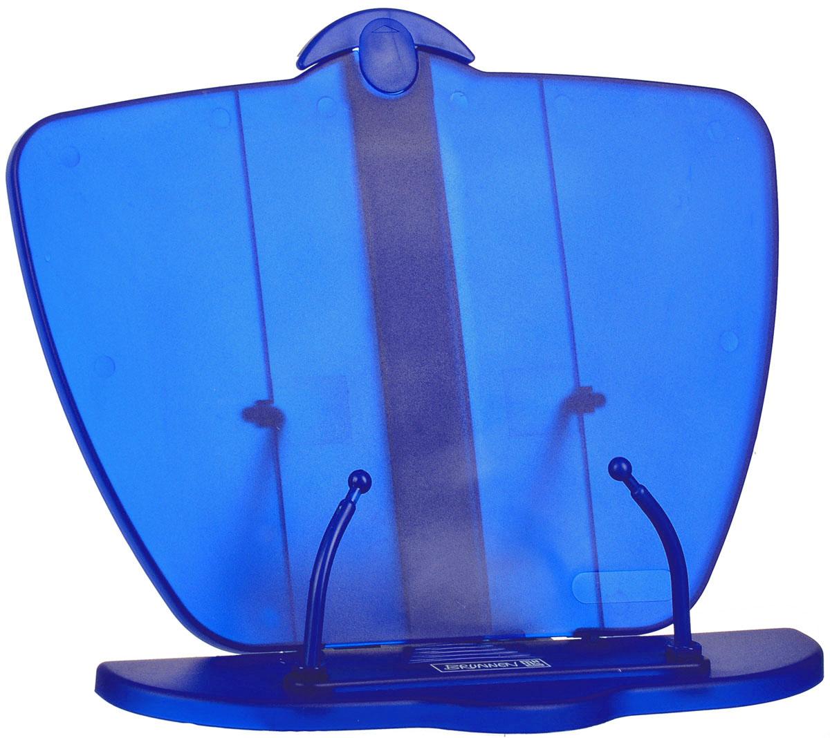 Brunnen Подставка для учебников, цвет: синий40403\313370Подставка для учебников Brunnen, выполненная из полупрозрачного прочного пластика синего цвета.Удобная и устойчивая подставка специально предназначена в помощь в обучении, а несколько ступеней креплений сделает удобным наклон в соответствии со всеми индивидуальными предпочтениями и привычками школьника. Она обязательно понравится первоклашке и станет отличным помощником в обучающем процессе, а также простимулирует его интерес к учебе.