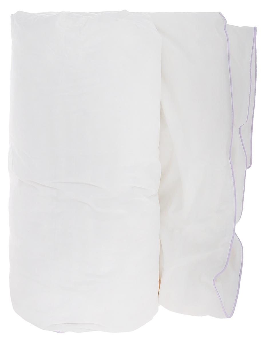 Одеяло Primavelle Patrizia, наполнитель: пух, цвет: белый, 172 см х 205 смGC220/05Чехол одеяла Primavelle Patrizia выполнен из 100% хлопка. Наполнитель одеяла состоит из пуха 1 категории. Стежка надежноудерживает наполнитель внутри и не позволяет ему скатываться.Белоснежный хлопковый чехол с атласным кантом лилового цвета и наполнитель из белого сибирского пуха первой категории – сочетание классики и новизны, воплощенные в пуховом одеяле Primavelle Patrizia. Лиловый кант выигрышно подчеркивает белоснежность чехла. Двойная строчка не позволяет пуху покидать чехол.Одеяло упаковано в тканевый чехол с одной пластиковой стороной на змейке с ручкой, что являетсячрезвычайно удобным при переноске.Рекомендации по уходу:- Допускается стирка при 30 градусах в деликатном режиме,- Нельзя отбеливать. При стирке не использовать средства, содержащие отбеливатели (хлор),- Не гладить. Не применять обработку паром,- Сухая чистка,- Допускается только горизонтальная сушка в машине в щадящем режиме. Размер одеяла: 172 см х 205 см. Материал чехла: 100% хлопок. Материал наполнителя: пух 1 категории (80% пух, 20% перо).