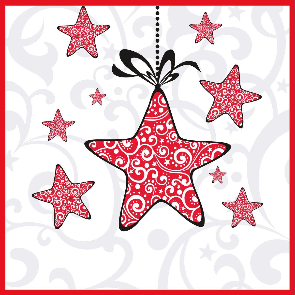 Салфетки бумажные Gratias Звездочка, трехслойные, 33 х 33 см, 20 шт787502Трехслойные бумажные салфетки Gratias Звездочка, выполненные из натуральной целлюлозы, станут отличным дополнением любого праздничного стола. Они отличаются необычной мягкостью и прочностью. Размер листа: 33 х 33 см. Количество слоев: 3.