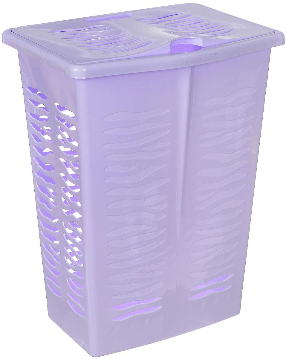 Корзина для белья BranQ Aqua, цвет: сиреневый, 42 л97678Корзина для белья BranQ Aqua изготовлена из прочного пластика. Корзина пропускает воздух, устойчива к перепадам температур и влажности, поэтому идеально подходит для ванной комнаты. Изделие оснащено боковой ручкой, выемкой под руку и крышкой. Можно использовать для хранения белья, детских игрушек, домашней обуви и прочих бытовых вещей. Элегантный дизайн подойдет к интерьеру любой ванной.