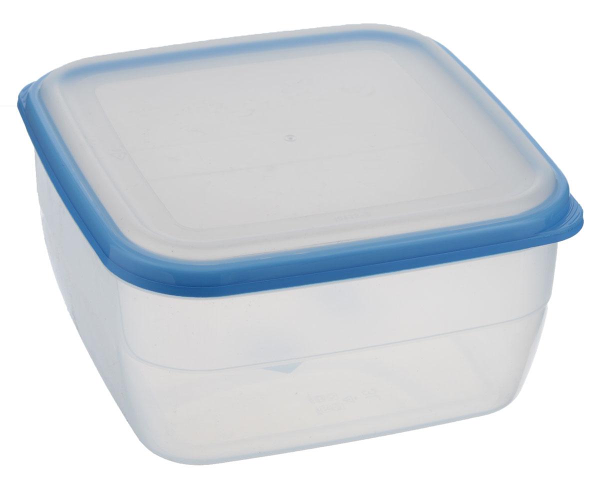 Контейнер Полимербыт Премиум, цвет: прозрачный, голубой, 3 лFA-5125 WhiteКонтейнер Полимербыт Премиум квадратной формы, изготовленный из прочного пластика, предназначен специально для хранения пищевых продуктов. Крышка легко открывается и плотно закрывается.Стенки контейнера прозрачные - хорошо видно, что внутри. Контейнер устойчив к воздействию масел и жиров, легко моется. Имеет возможность хранения продуктов глубокой заморозки, обладает высокой прочностью. Подходит для использования в микроволновых печах. Можно мыть в посудомоечной машине.