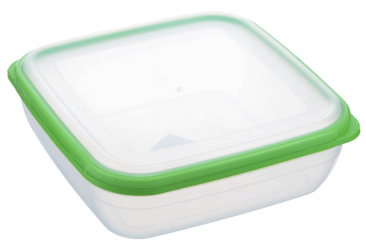 Контейнер для СВЧ Полимербыт Премиум, цвет: салатовый, прозрачный, 1,7 лVT-1520(SR)Квадратный контейнер для СВЧ Полимербыт Премиум изготовлен из высококачественного прочного пластика, устойчивого к высоким температурам (до +110°С). Крышка плотно и герметично закрывается, дольше сохраняя продукты свежими и вкусными. Контейнер идеально подходит для хранения пищи, его удобно брать с собой на работу, учебу, пикник или просто использовать для хранения продуктов в холодильнике.Подходит для разогрева пищи в микроволновой печи и для заморозки в морозильной камере (при минимальной температуре -40°С). Можно мыть в посудомоечной машине.