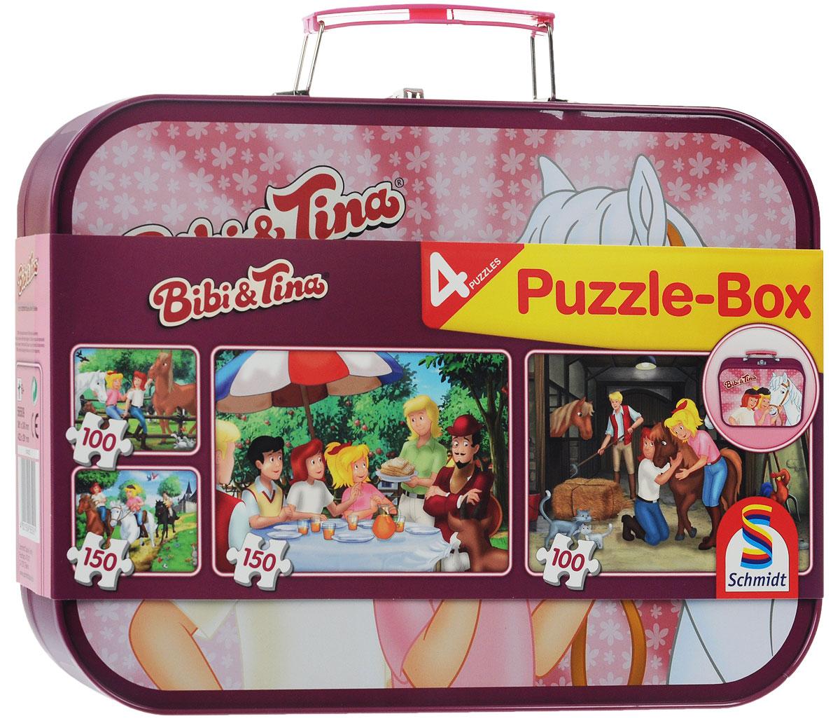 Schmidt Набор пазлов Bibi & Tina, в чемоданчике, 500 элементов пазлы janod набор пазлов в квадратном чемоданчике на скутере