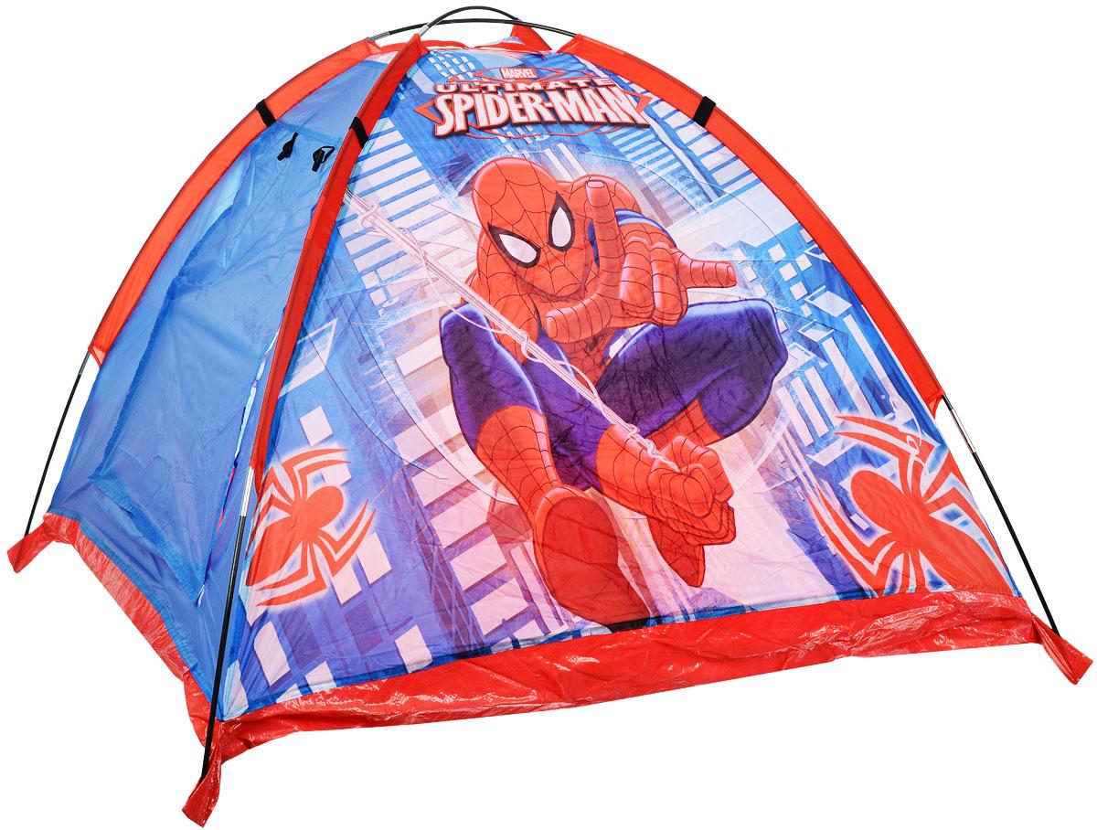 """Детская игровая палатка John """"Человек-Паук"""" идеально подойдет для веселых игр как на улице, так и в помещении. Она выполнена в виде обычной палатки с одним входом. Каждый ребенок время от времени мечтает жить в своем собственном маленьком городке, представляя окружающий мир без взрослых. Вашему ребенку с друзьями будет очень весело прятаться от взрослых в этой палатке. Палатка выполнена из легкого полиэстера в синих и красных тонах и оформлена изображением Человека -Паука. Палатка при складывании занимает совсем немного места. Ваш ребенок с удовольствием будет играть в такой палатке, придумывая различные истории."""