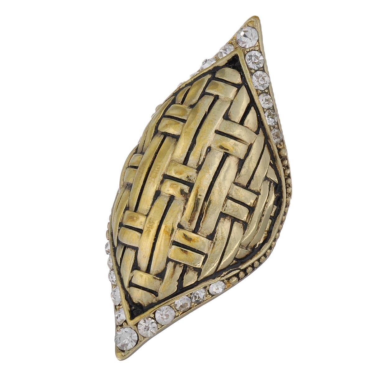 Кольцо Avgad, цвет: золотистый. EA178JW165Коктейльное кольцоОригинальное кольцо Avgad выполненное из ювелирного сплава оформлено рельефом и стразами. Элементы кольца соединены с помощью тонкой резинки, благодаря этому оно легко одевается и снимается. Размер универсальный.Кольцо позволит вам с легкостью воплотить самую смелую фантазию и создать собственный, неповторимый образ.