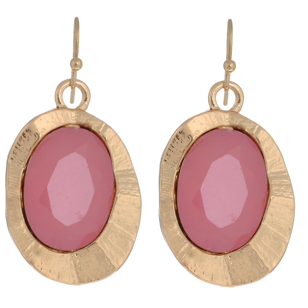 Серьги Avgad, цвет: золотистый, розовый. EA178JW118Серьги с подвескамиВеликолепные серьги Avgad, изготовленные из ювелирного сплава, декорированы дополнительным элементом из акрила. Оригинальный дизайн изделий придадут вашему образу изюминку, подчеркнут красоту или преобразят повседневный наряд. Застегиваются на замок-петлю.Такие серьги позволит вам с легкостью воплотить самую смелую фантазию и создать собственный, неповторимый образ.