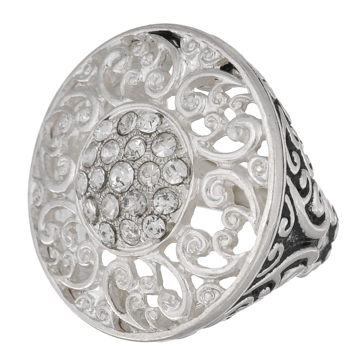 Кольцо Avgad, цвет: серебристый. EA178JW161Коктейльное кольцоОригинальное кольцо Avgad выполненное из ювелирного сплава оформлено рельефом и стразами. Элементы кольца соединены с помощью тонкой резинки, благодаря этому оно легко одевается и снимается. Размер универсальный.Кольцо позволит вам с легкостью воплотить самую смелую фантазию и создать собственный, неповторимый образ.