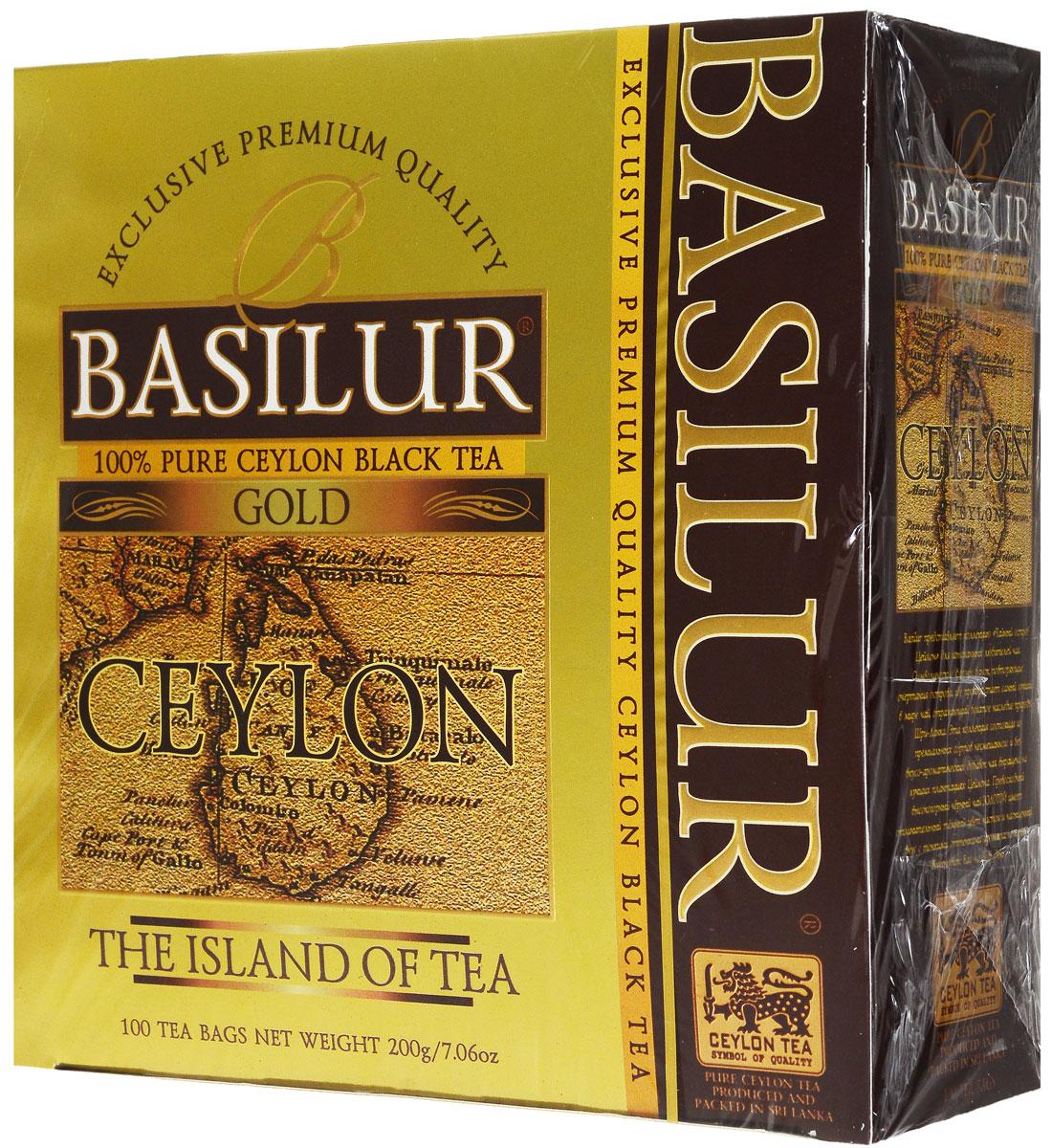 Basilur Gold черный чай в пакетиках, 100 шт71009-00Basilur Gold OP1 - черный байховый мелколистовой чай в пакетиках с ярлычками для разовой заварки. Orange Pekoe 1 - это высокий стандарт листового цейлонского чая, который сочетает в себе полноту вкуса с тонкими оттенками аромата. А благородный золотистый цвет его настоя делает напиток поистине драгоценным.