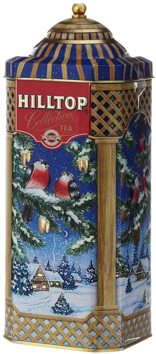 Hilltop Снегири Чай 1001 ночь черный и зеленый листовой чай, 125 г4607099306035Hilltop Снегири содержит в себе смесь чёрных и зелёных байховых чаёв с добавлением лепестков розы, жасмина, подсолнечника и сафлора. Ароматизирован экзотическими фруктами.