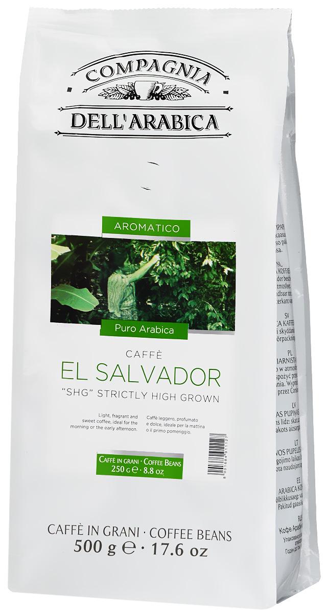 Compagnia DellArabica El Salvador кофе в зернах, 500 г4251598Кофе Compagnia DellArabica El Salvador произрастает на высоте более 900 метров над уровнем моря. Сорт впитал в себя все могущество высокогорного шедевра Латинской Америки. Он обладает сладким мягким вкусом, насыщенным ароматами чередованиями послевкусий. Идеально подходит для приготовления эспрессо и напитков на его основе, любыми традиционными способами!