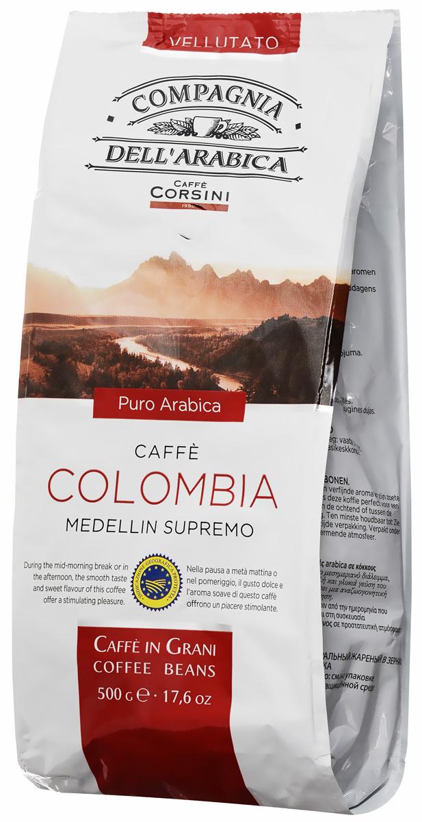 Compagnia DellArabica Colombia Medellin Supremo кофе в зернах, 500 г0560-12-НCompagnia DellArabica Colombia Medellin Supremo - изящный и несравненный сорт с лучших плантаций Южной Америки. Это легкий кофе средней кислотности, с тонким, деликатным ароматом и слабым ореховым привкусом.Идеально подходит для приготовления эспрессо и напитков на его основе, любыми традиционными способами!