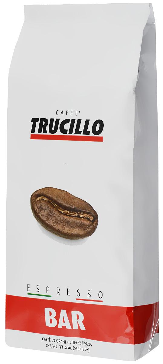 Trucillo Espresso Bar кофе в зернах, 500 гClassicTrucillo Espresso Bar - филигранно подобранная смесь лучшей арабики и робусты высочайшего качества. Яркий и насыщенный вкус, сочетающий мягкие нотки арабики и полновесные нотки робусты. Бодрящий итальянский эспрессо с незабываемым вкусом и ароматом.