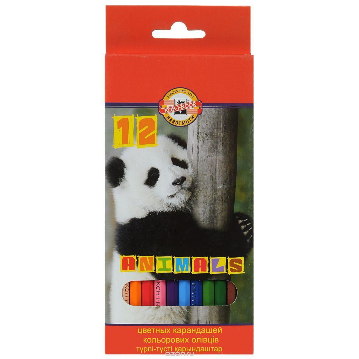 Цветные карандаши Животные, 12 цветов72523WDЦветные карандаши Животные непременно, понравятся вашему юному художнику. Набор включает в себя 12 ярких насыщенных цветных карандашей, которые идеально подходят для малышей. Шестигранный корпус изготовлен из натуральной древесины. Карандаши имеют прочный неломающийся грифель, не требующий сильного нажатия и легко затачиваются. Порадуйте своего ребенка таким восхитительным подарком!