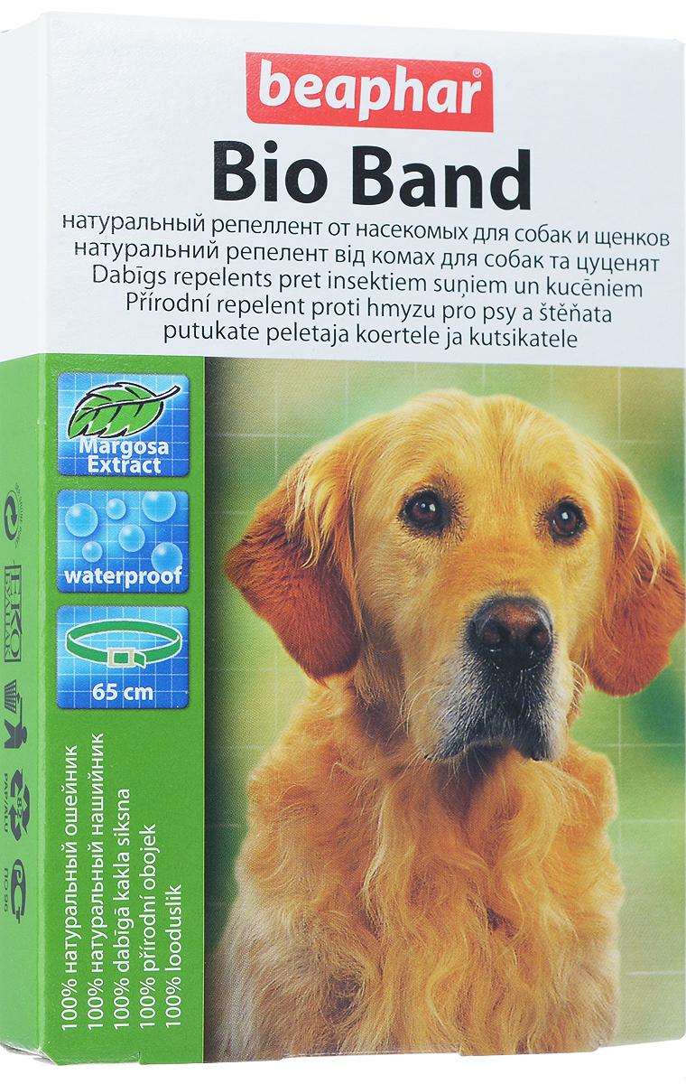 Ошейник для собак Beaphar Bio Band, репеллентный, длина 65 см0120710Ошейник репеллентный Beaphar Bio Band - безопасное и эффективное средствона основе натуральных эфирных масел маргозы и лаванды для отпугиванияэктопаразитов собак: - блох; - клещей; - вшей; - власоедов; - летающих насекомых (комаров, мух, слепней). Свойства ошейника: - не влияет на активность животного и уход за ним;- водостойкий, не теряет своих свойств при намокании;- безопасный для человека и животных;- без ограничений по физиологическому состоянию.Рекомендуется для следующих животных: - щенков с 2-х месячного возраста;- больных или ослабленных животных;- беременных и кормящих;- склонных к аллергии собак.Активные компоненты: - эфирное масло маргозы; - эфирное масло лаванды. Длина ошейника: 65 см. Товар сертифицирован.