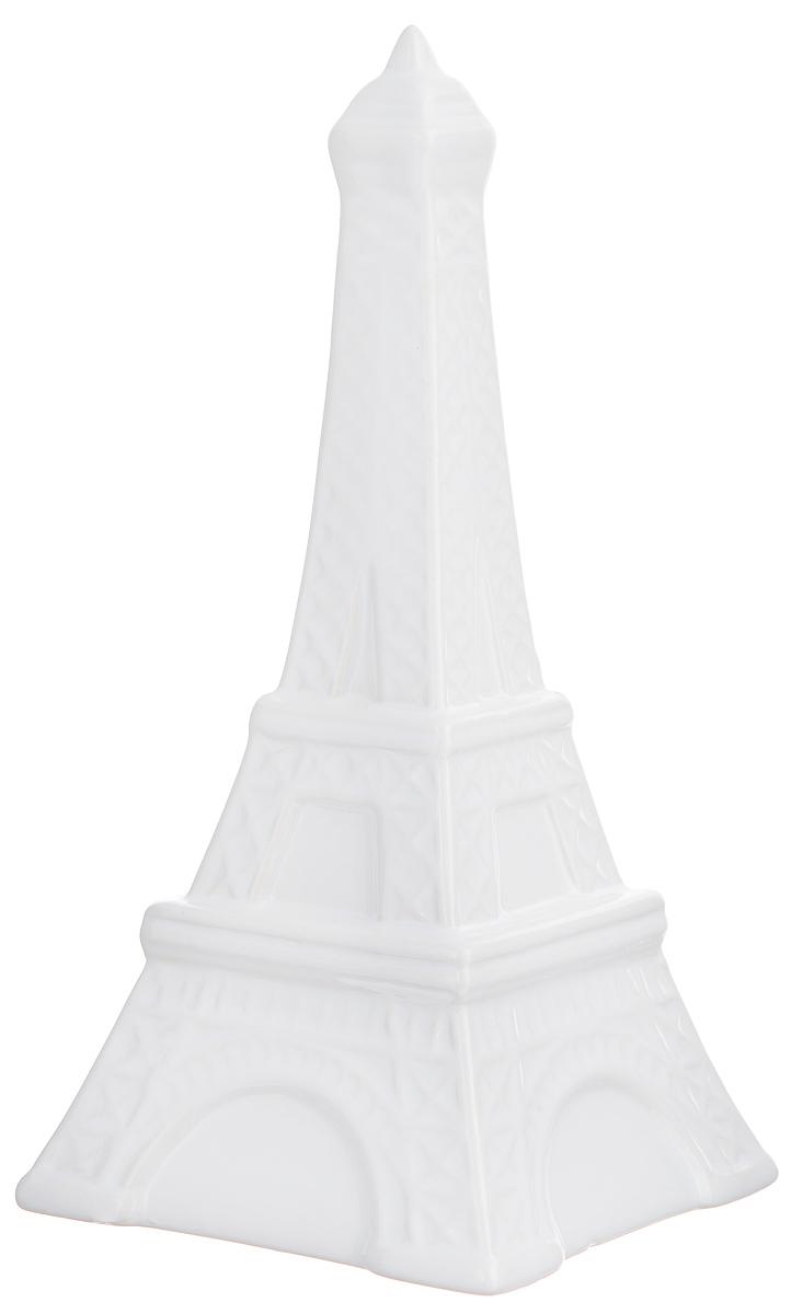 Копилка декоративная Феникс-презент Эйфелева башня, цвет: белый, 10,3 х 10,3 х 21 смОТКР №242Декоративная копилка Феникс-презент Эйфелева башня изготовлена из доломитовой керамики. Сверху имеется прорезь для монет. На дне расположен клапан, через который можно достать деньги. Яркий оригинальный дизайн сделает такую копилку прекрасным подарком. Она послужит не только по своему прямому назначению, но и красиво дополнит интерьер комнаты.