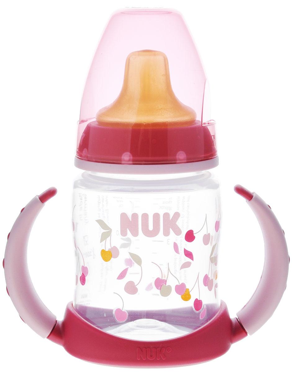 "NUK Бутылочка-поильник ""First Choice"", с латексной насадкой, цвет: розовый, 150 мл, от 6 месяцев, Mapa GmbH."