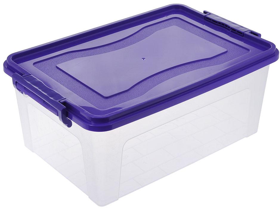 Контейнер для хранения Idea, цвет: прозрачный, фиолетовый, 5,3 л21395599Контейнер для хранения Idea выполнен из высококачественного пластика. Контейнер снабжен двумя пластиковыми фиксаторами по бокам, придающими дополнительную надежность закрывания крышки. Вместительный контейнер позволит сохранить различные нужные вещи в порядке, а герметичная крышка предотвратит случайное открывание, защитит содержимое от пыли и грязи.