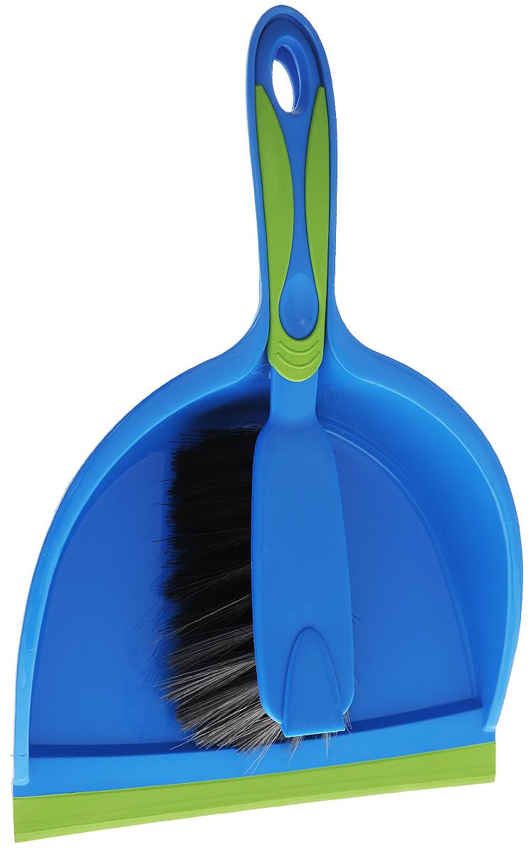 Набор для уборки Rival, цвет: синий, зеленый, 2 предметаDAVC150Набор для уборки Rival состоит из совка и щетки, изготовленных из высококачественного полипропилена. Вместительный совок удерживает собранный мусор и позволяет эффективно и быстро совершать уборку в любом помещении. Прорезиненный край совка обеспечивает наиболее плотное прилегание к полу. Щетка имеет удобную форму, позволяющая вымести мусор даже из труднодоступных мест. Совок и щетки оснащены ручками с отверстиями для подвешивания. С набором Rival уборка станет легче и приятнее.Материал: полимекс, полипропилен, резина.Общая длина щетки: 28 см.Размер рабочей части щетки: 12 см х 7 см х 6 см.Длина совка: 33 см.Размер рабочей части совка: 22 см х 17 см х 6 см.
