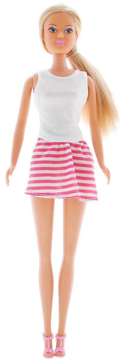Simba Кукла Штеффи Городская мода цвет белый, розовый