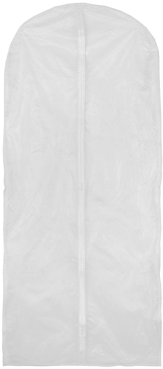 Чехол для одежды Miolla, цвет: белый, 60 х 135 см12723Удобный чехол для одежды Miolla на молнии, выполненный из прочного дышащего и водонепроницаемого материала, обеспечит надежное хранение вашей одежды, защиту от повреждений и грязи. Особая фактура ткани не пропускает пыль и при этом позволяет воздуху свободно проникать внутрь, обеспечивая естественную вентиляцию.